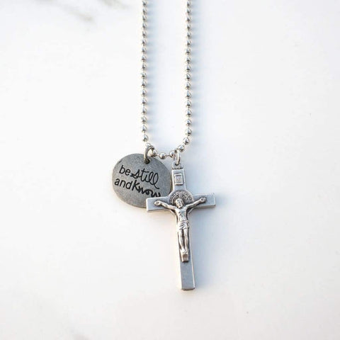 St Benedict Crucifix Necklace - Saint Necklace