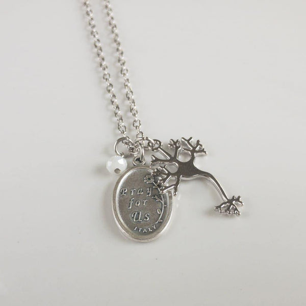 St Dymphna and Neuron Necklace - Necklace