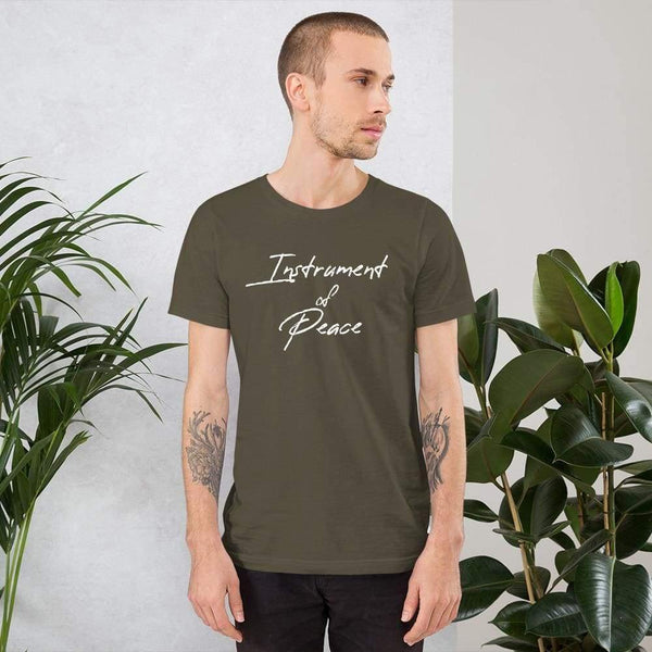 St Francis of Assisi Instrument of Peace T-Shirt - Army / S