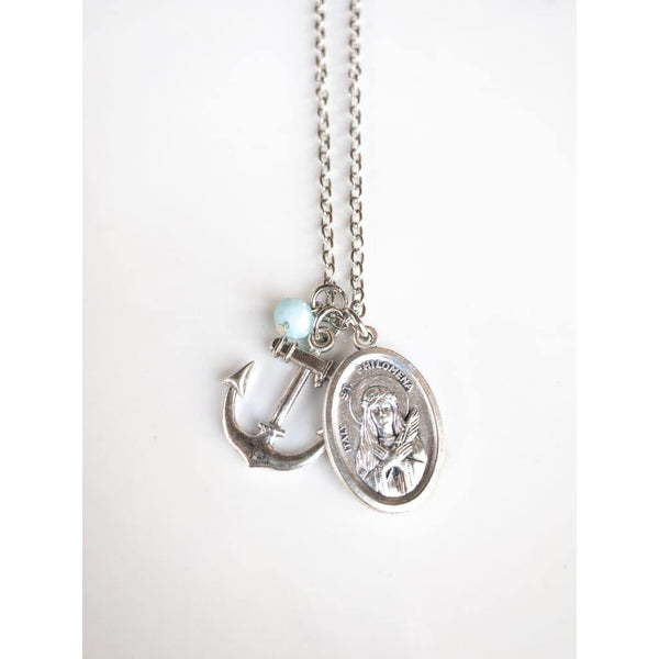 St Philomena and Anchor Necklace - Necklace