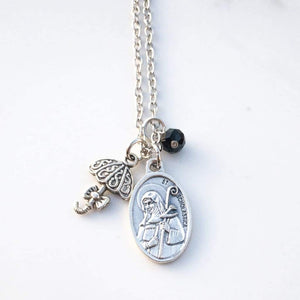 St Scholastica Necklace - Necklace