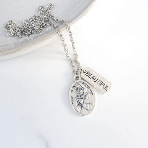 St Teresa of Calcutta Necklace - Saint Necklace