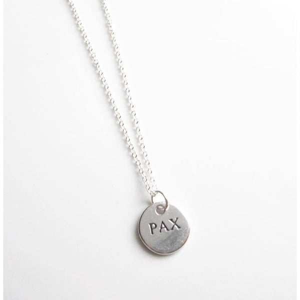 Sterling Silver Pax Necklace
