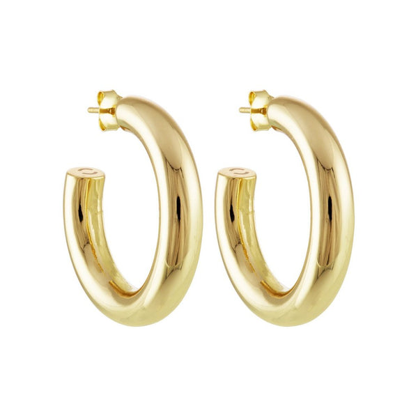 "1"" Perfect Hoops in 14k Gold"