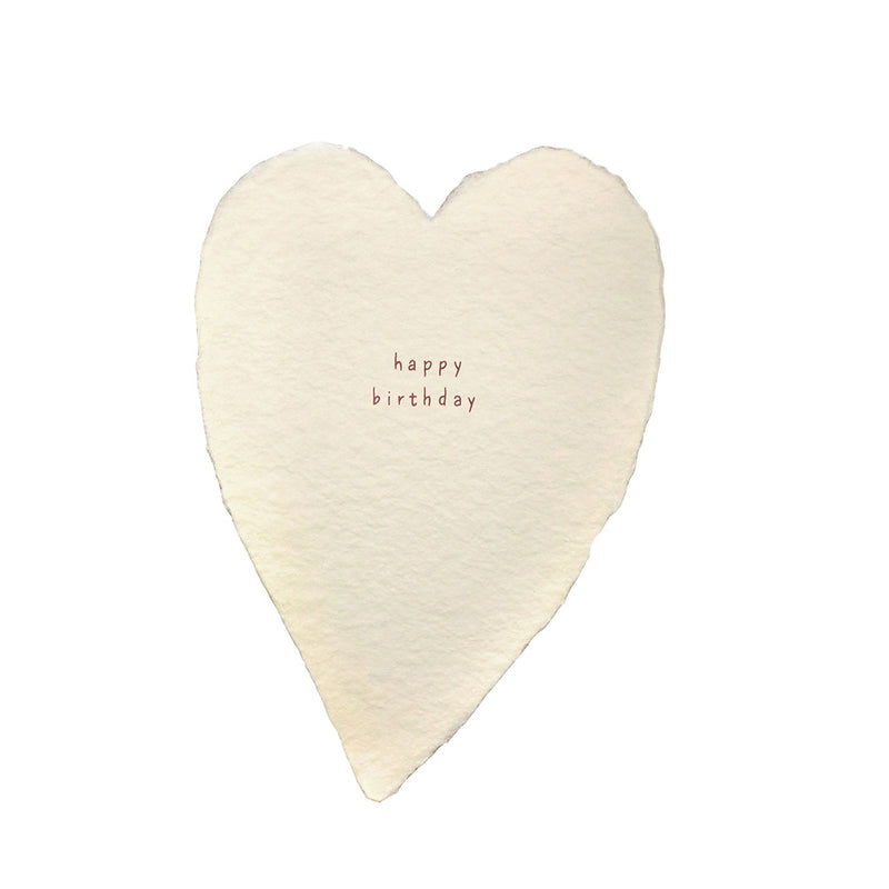 Happy Birthday Greeted Heart Card