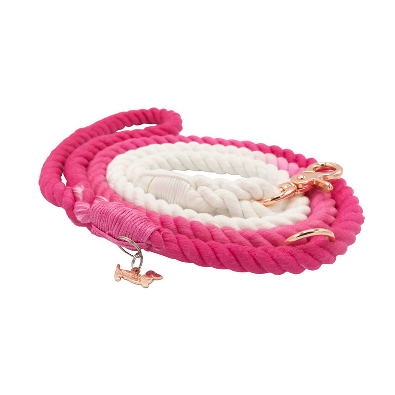 Pink Ombre Cotton Rope Leash