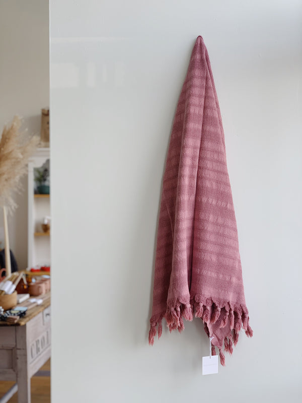Rose Clay Stonewashed Turkish Towel