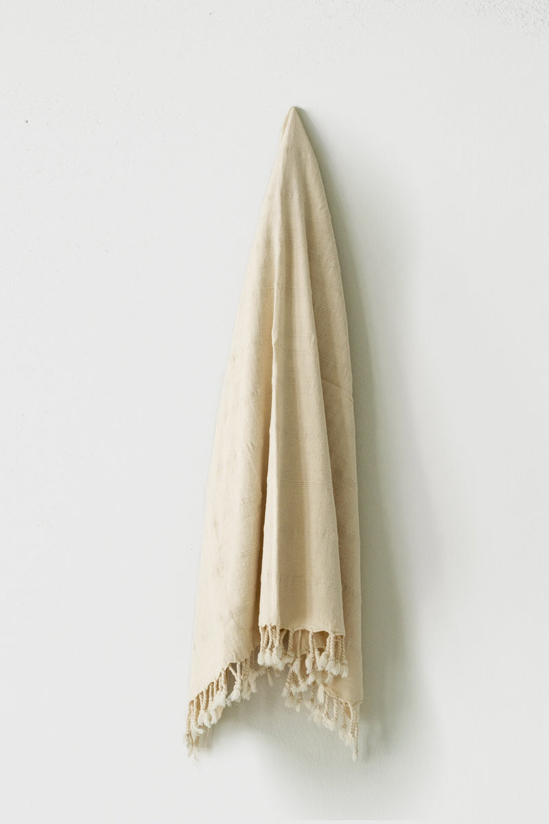 Ecru Stonewashed Turkish Towel