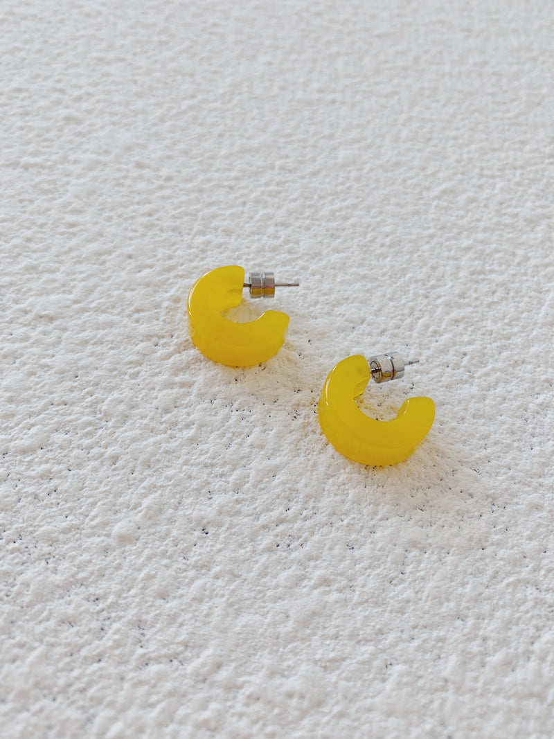 Muse Hoops in Yellow