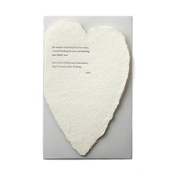 Rumi Quote Heart Card