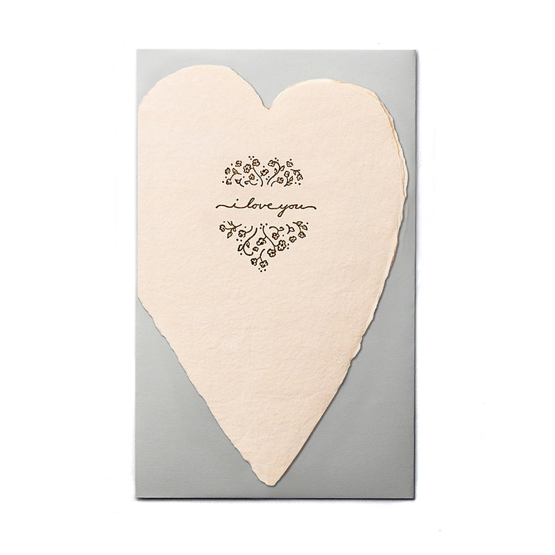 I Love You Blush Heart Card