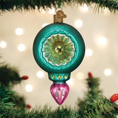 Turquoise Luster Reflection Ornament