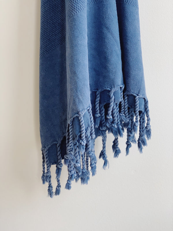 Lapis Stonewashed Turkish Towel