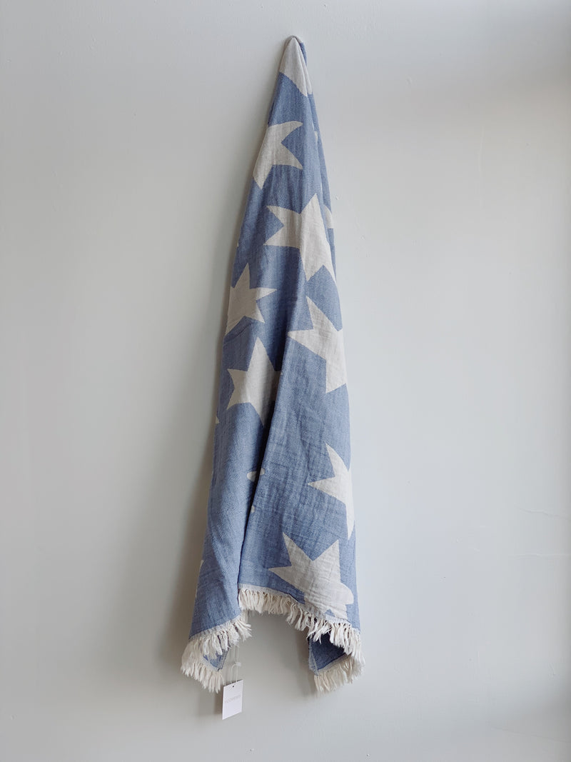 Periwinkle Star Turkish Towel