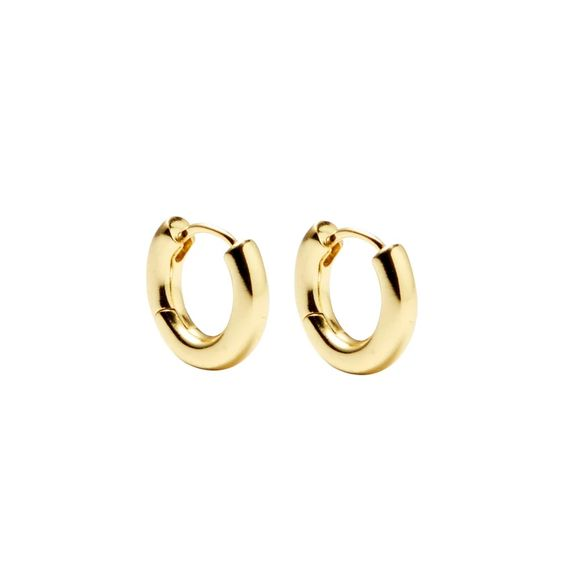 Perfect Huggie Hoops in Gold