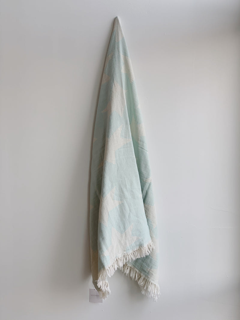 Robins Egg Blue Star Turkish Towel