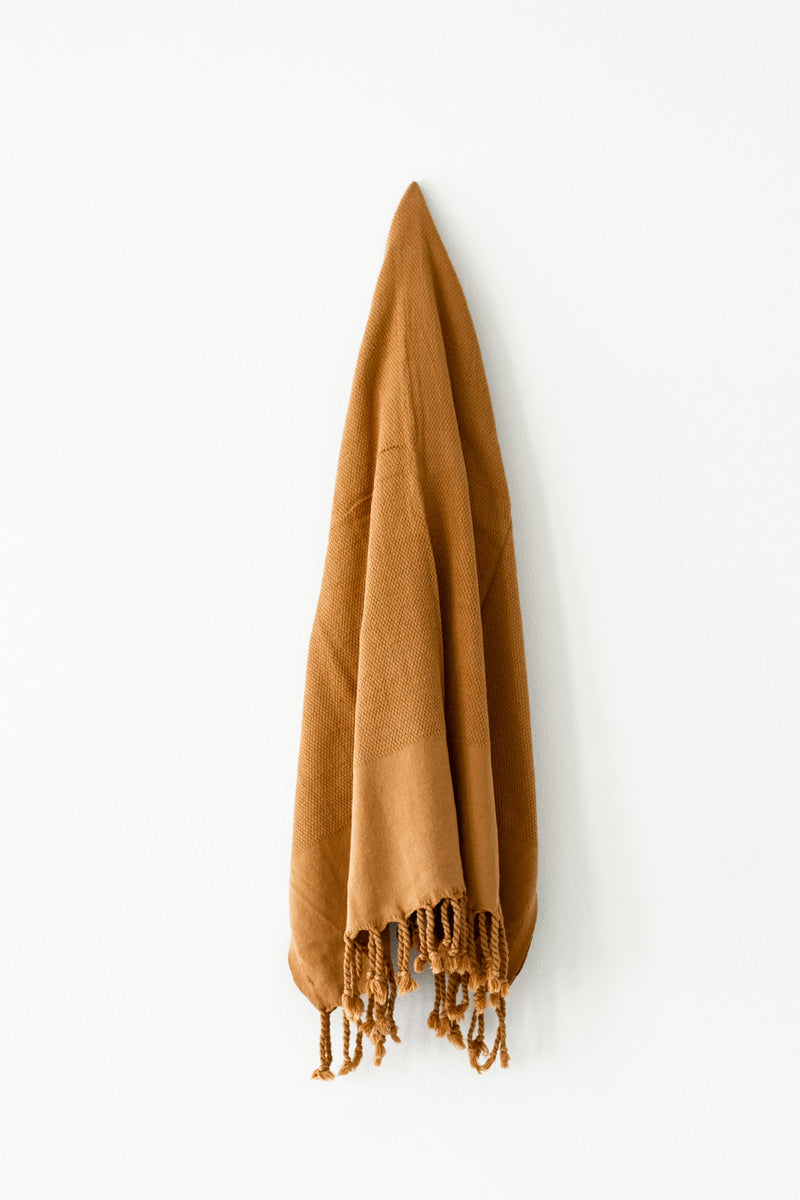 Cinnamon Stonewashed Turkish Towel