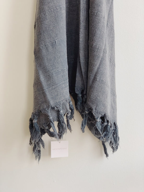 Ebony Stonewashed Turkish Towel
