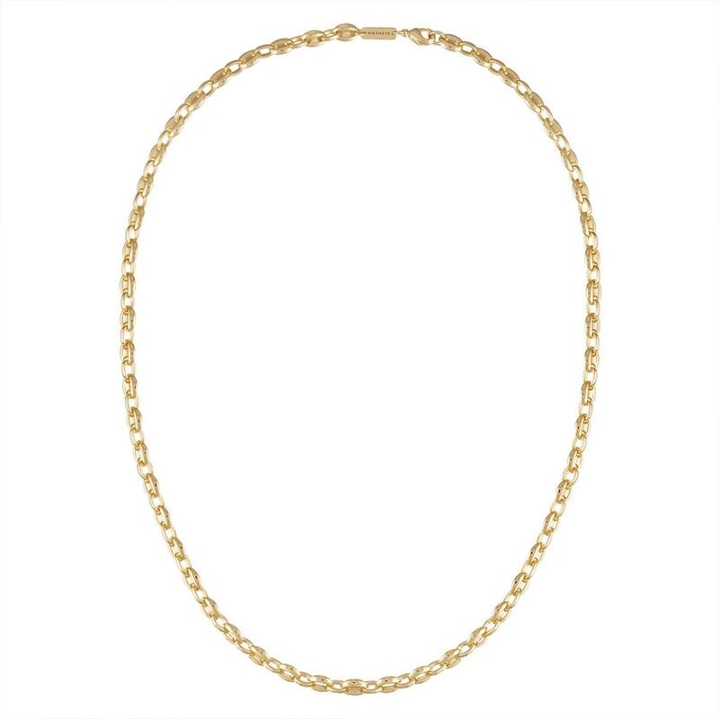 Petite Coffee Bead Chain Necklace in Gold