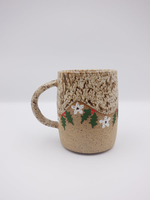 Flowers & Holly Mug