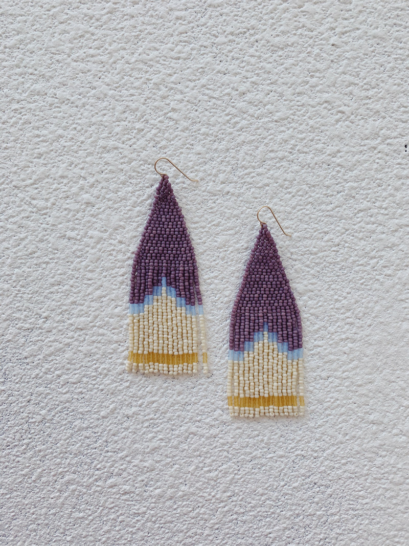 Lavender and Honey Earrings