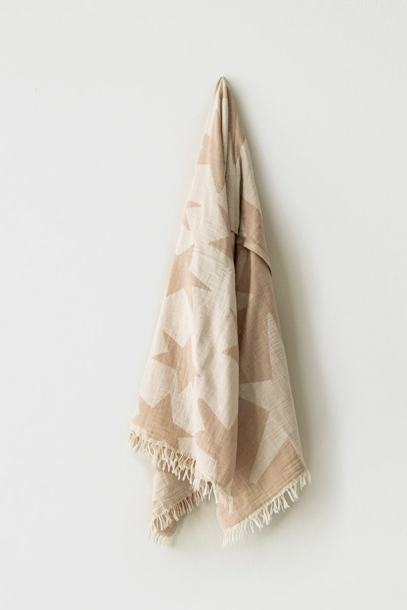 Beige Star Turkish Towel