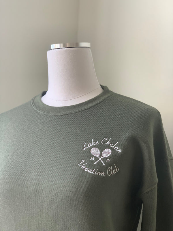 The Club Sweatshirt in Tennis Green
