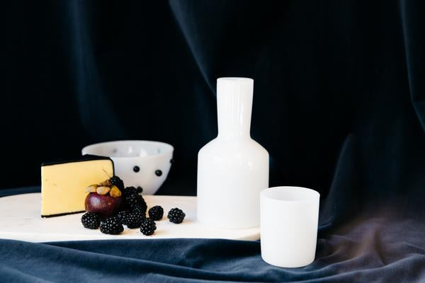 White J'ai Soif Carafe & Glass