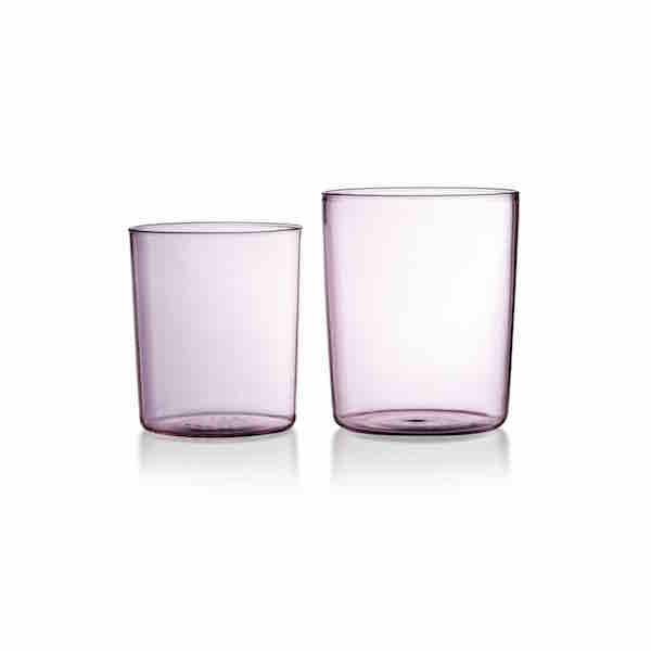 Pink/Rose Goblet Set