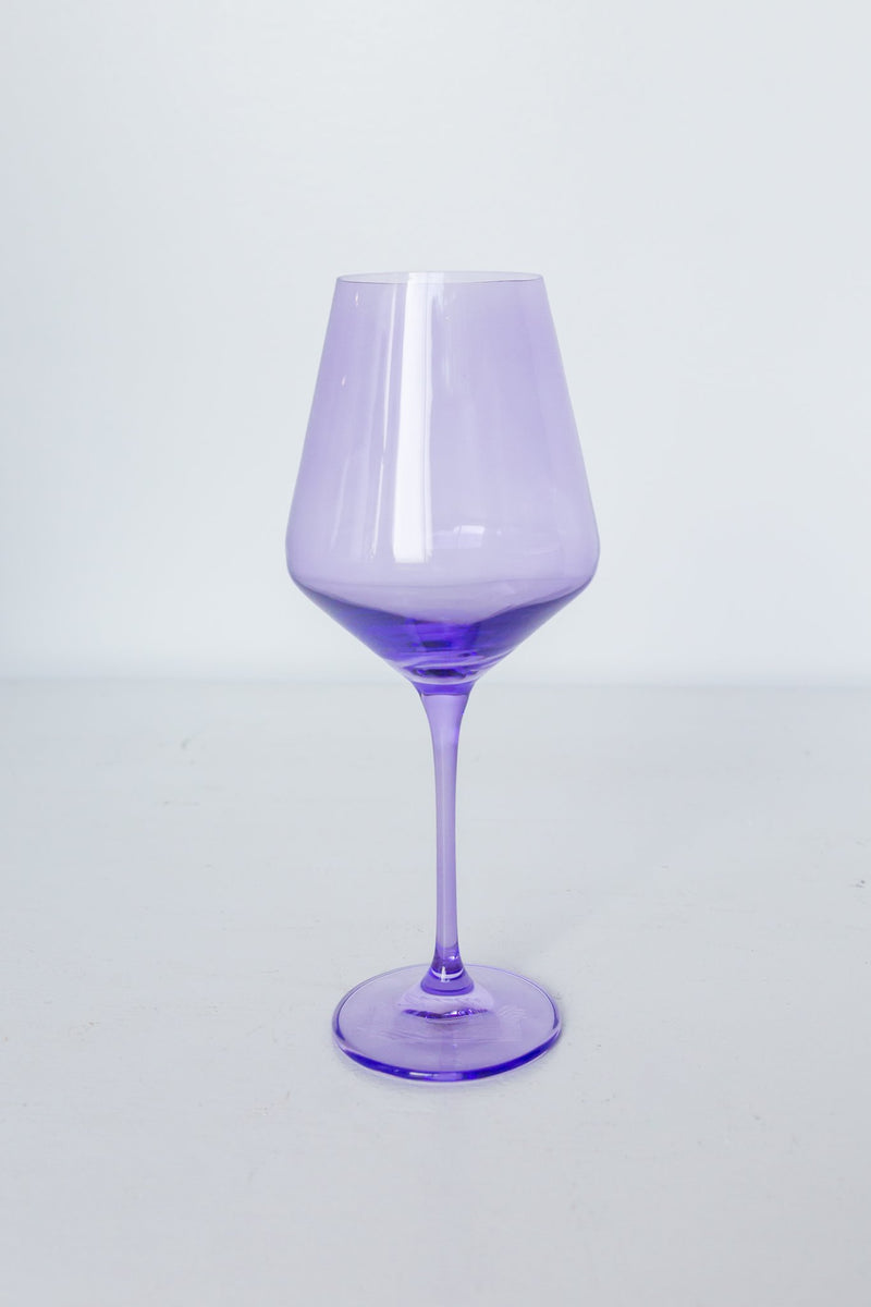 Lavender Estelle Wine Glass