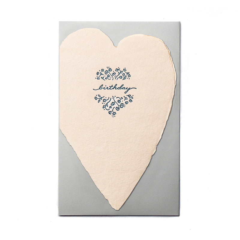 Birthday Blush Heart Card