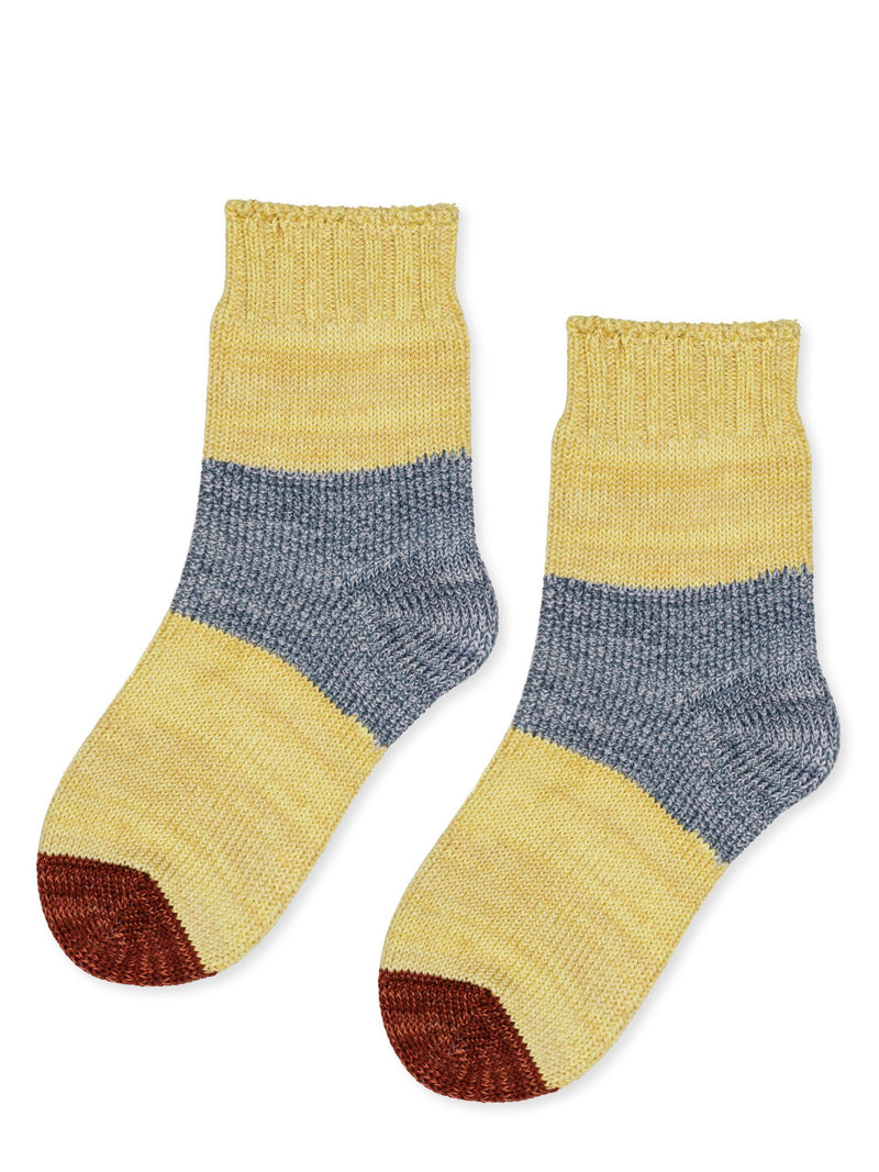 Tonal Dapple Crew Socks in Maize