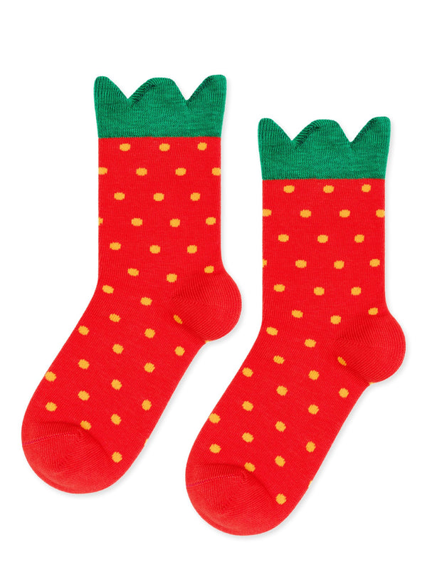 Mini Strawberry Crew Socks
