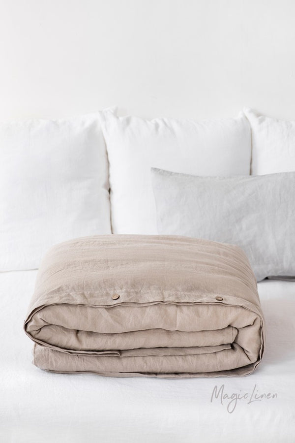 King Linen Duvet Cover in Natural