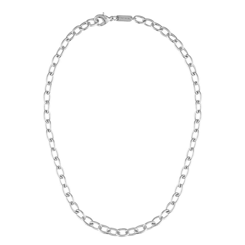 Oval Link Chain Necklace in Silver