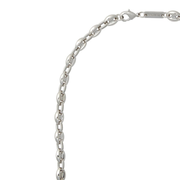 Petite Coffee Bead Chain Necklace in Silver