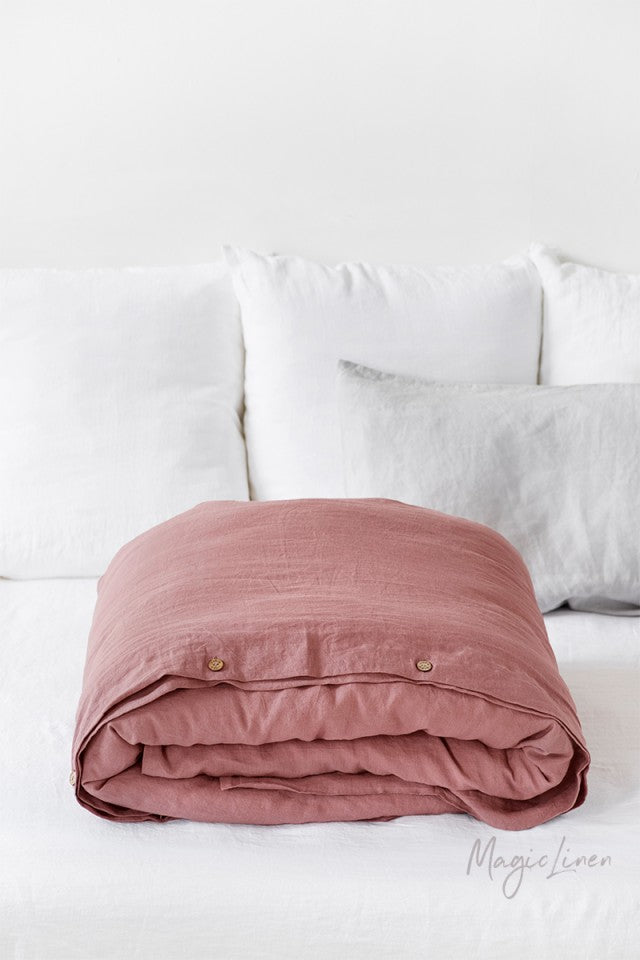 Standard Linen Pillowcase with Buttons