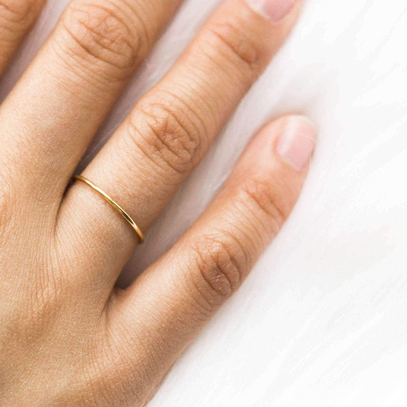 Simple Stacking Ring in Gold