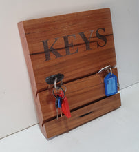 Load image into Gallery viewer, Solid Timber Key rack