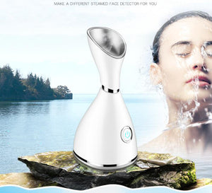 Salon Skin Care Nano Ionic Warm Hot Mist Face Humidifier Sprayer Home Sauna SPA Moisturizing Facial Steamer