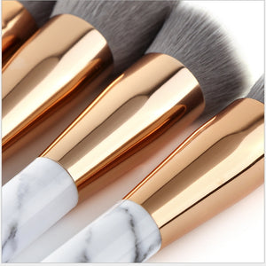 Hot Popular Marble Makeup Brushes Beauty Brushes Makeup Cosmetics Kit Foundation Powder Blush Contour Make up brush