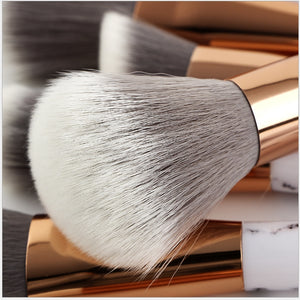 Marble Makeup Brush High Quality Cosmetic Make Up Brushes Low Moq Custom Logo Private Label Makeup Brushes Set