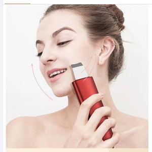 Beauty ultrasonic skin scrubber face lifting home beauty equipment