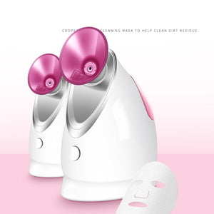 Nano Ionic Face Humidifier with Hot and Cold Mist Moisturizing Cleansing Pores for Home Face Spa