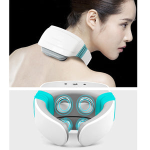 Smart Neck Massager with Heat, Electric Pulse Neck Massager Pressure Point,