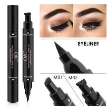 Load image into Gallery viewer, Hot sell easy drawing liquid eyeliner black double head eyeliner pencil