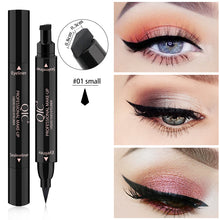Load image into Gallery viewer, OEM Service Accepted eye makeup Custom no logo eyeliner quick drying Signet double head black liquid stamp eyeliner