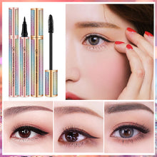 Load image into Gallery viewer, 4D Silk Fiber Eyelash Mascara with Liquid Eyeliner, Waterproof Black Cosmetics, Smudge-Proof, Long-Lasting