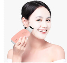 Load image into Gallery viewer, deep face cleaning machine ultrasonic silicon skin scrubber with ems