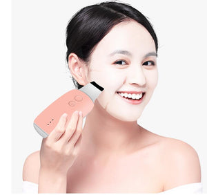 deep face cleaning machine ultrasonic silicon skin scrubber with ems